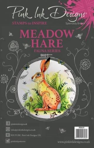 Pink Ink A5 Meadow Hare Clear Stamp Set